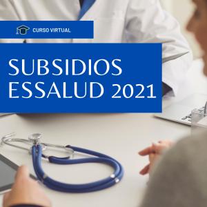 Curso virtual de Subsidios Essalud